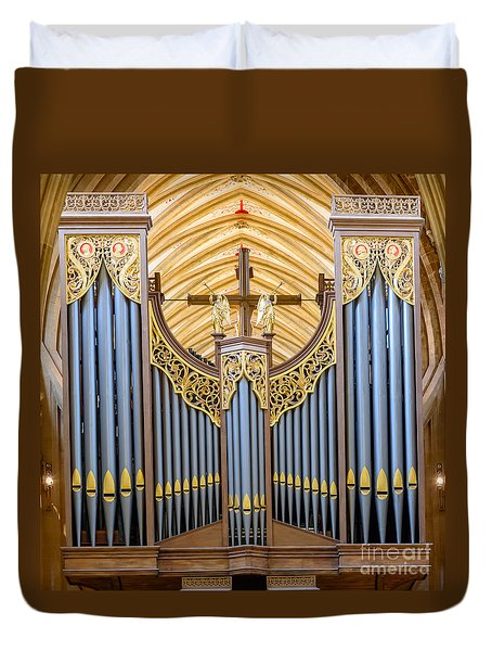 Wells Cathedral Organ Duvet Cover