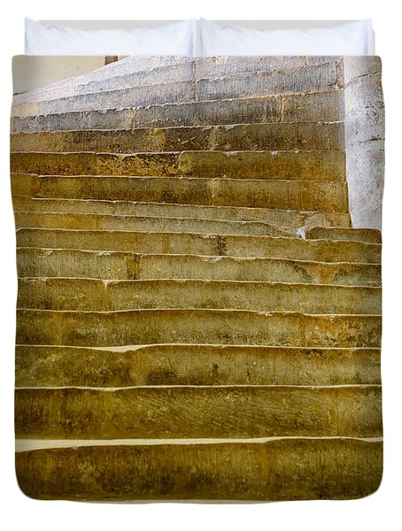 Wells Cathedral Steps Duvet Cover