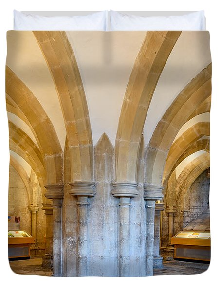 Wells Cathedral Undercroft Duvet Cover