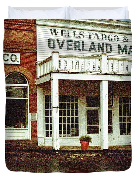 Wells Fargo Ghost Station Duvet Cover