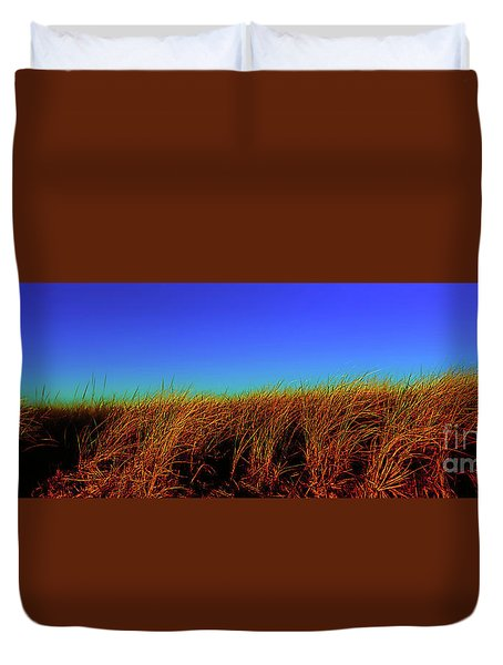 Wells Rachel Carson Wildlife Refuge Grass And Dunes Duvet Cover