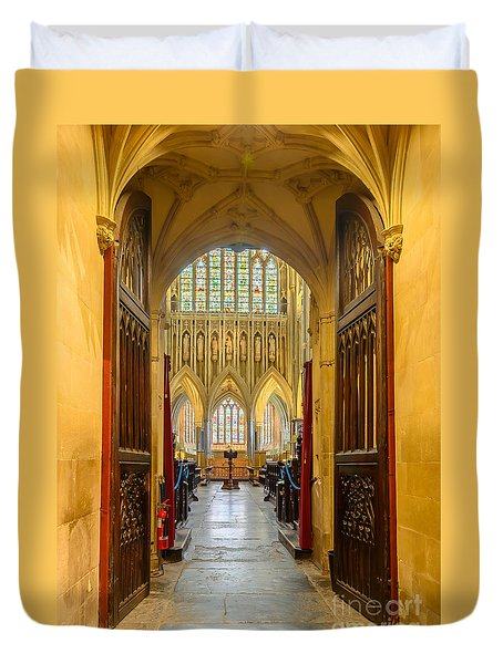 Wellscathedral, The Quire Duvet Cover