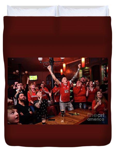 Welsh Rugby Fans Duvet Cover