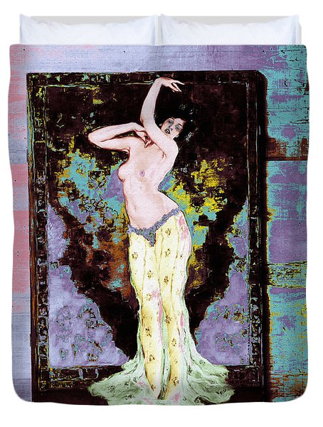 Duvet Cover featuring the photograph Wenzell Oriental Dancer by Robert G Kernodle
