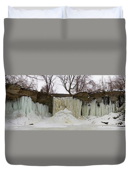 Duvet Cover featuring the photograph Wequiock Falls by Joel Witmeyer