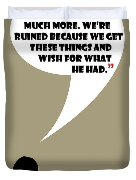 We're Flawed - Mad Men Poster Don Draper Quote Duvet Cover