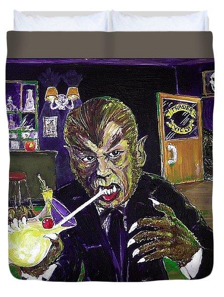 Werewolf Drinking A Pina Colada At Trader Vic's Duvet Cover