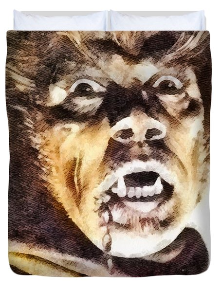 Werewolf Of London 1935, Vintage Horror Duvet Cover