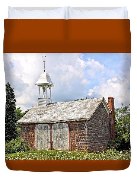 Werley's Corner Schoolhouse/barn Duvet Cover