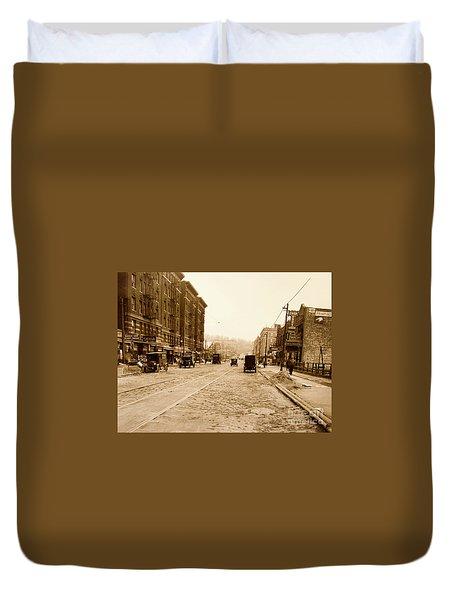West 207th Street, 1928 Duvet Cover