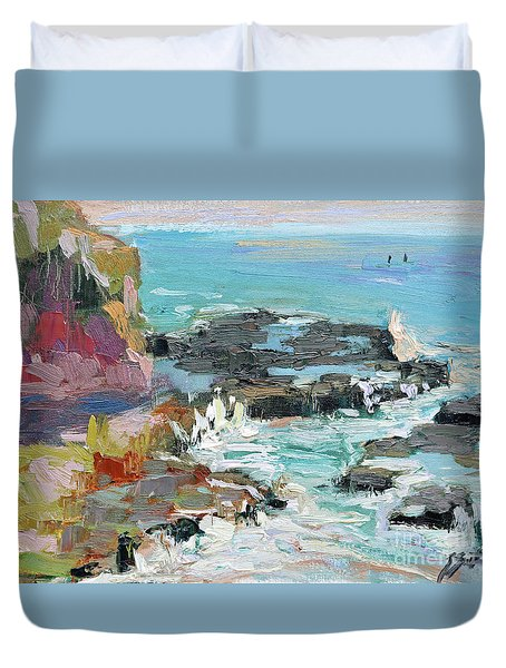 West Cliff Heat Duvet Cover