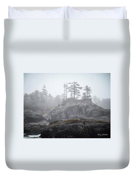 West Coast Landscape Ocean Fog IIi Duvet Cover
