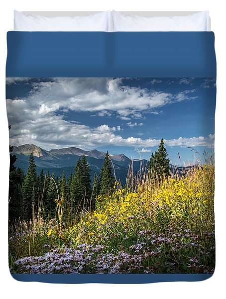 West Elk Mountain Range Duvet Cover