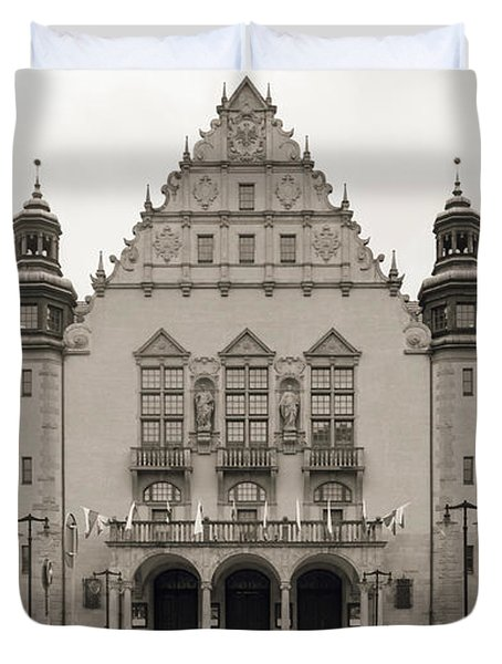 West Facade Of Adam Mickiewicz University Poznan Poland Duvet Cover