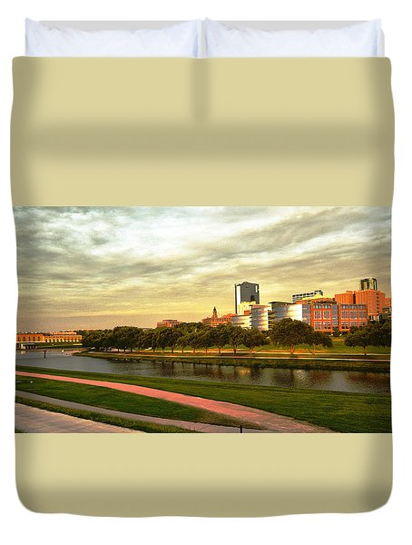 Duvet Cover featuring the photograph West Fork Trinity River by Ricardo J Ruiz de Porras