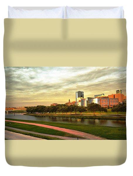 Duvet Cover featuring the photograph West Fork Trinity River by Ricardo J Ruiz de Porras