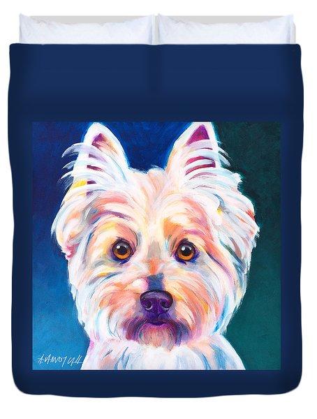 West Highland White Terrier - Rockette Duvet Cover