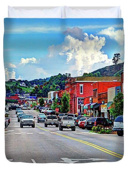 West Jefferson Streetscape Duvet Cover by Dale R Carlson