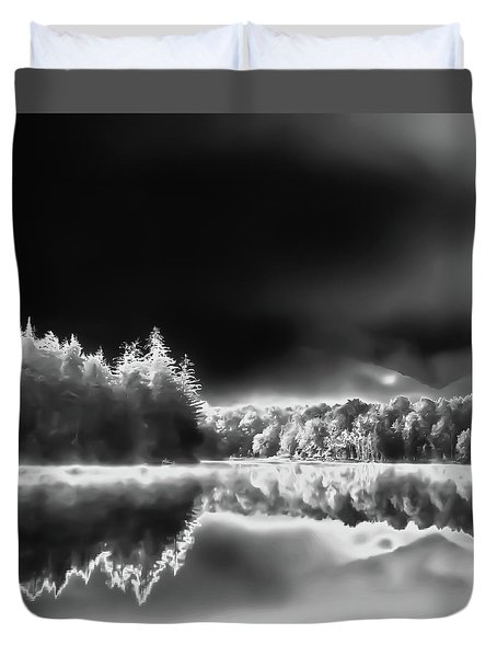 Duvet Cover featuring the photograph West Lake Backlit by David Patterson
