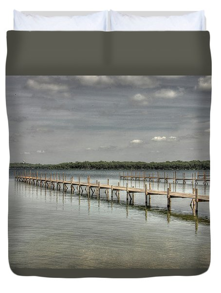 West Lake Docks Duvet Cover