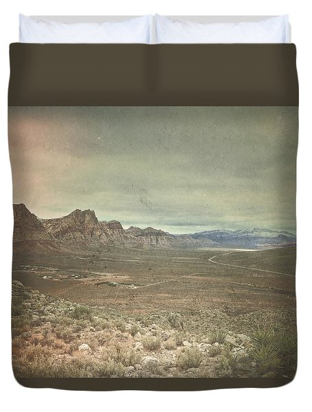 Duvet Cover featuring the photograph West by Mark Ross