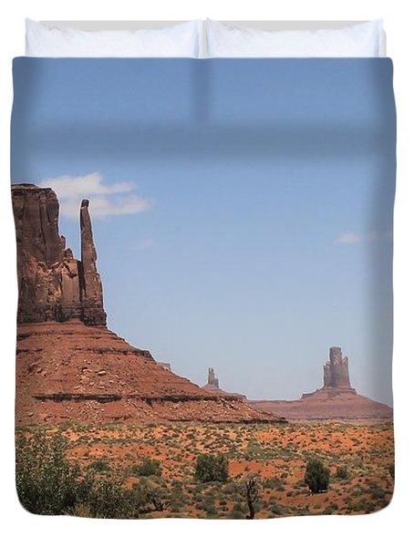 West Mitten Butte Monument Valley Duvet Cover