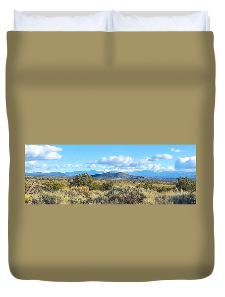 West Of Taos Duvet Cover by Brenda Pressnall