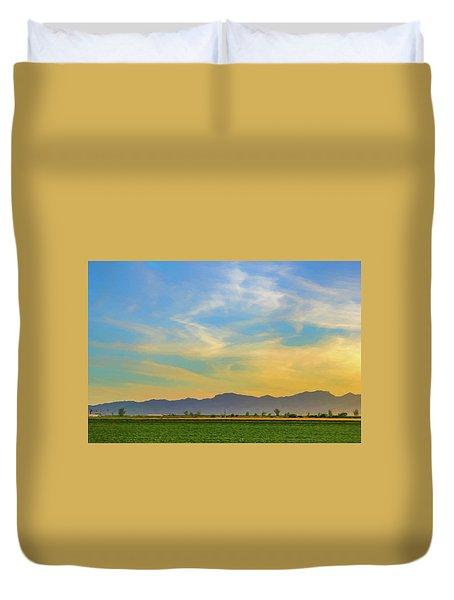 West Phoenix Sunset Digital Art Duvet Cover