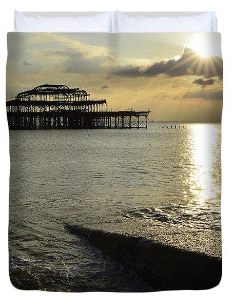 West Pier Brighton Duvet Cover