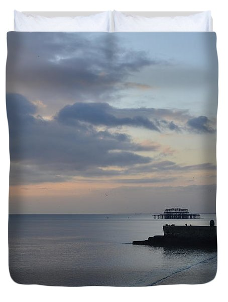 West Pier Views Duvet Cover