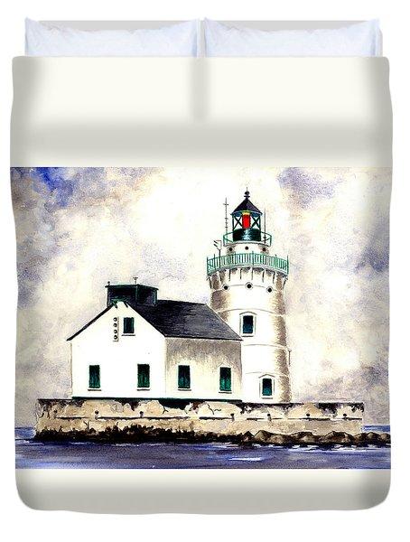 West Pierhead Lighthouse Duvet Cover by Michael Vigliotti