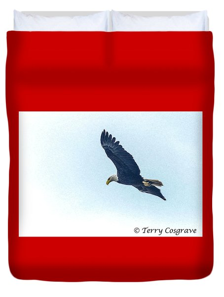 West Point American Eagle. Duvet Cover by Terry Cosgrave