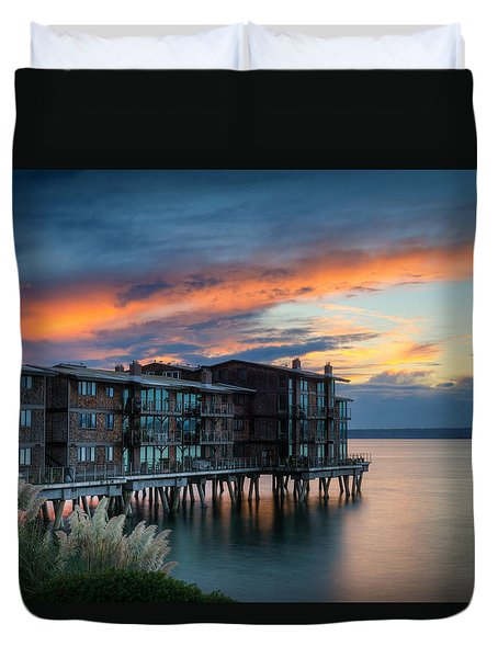 Duvet Cover featuring the photograph West Seattle Living by Dan Mihai