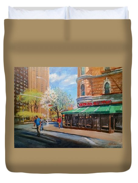 West Side Restaurant Duvet Cover