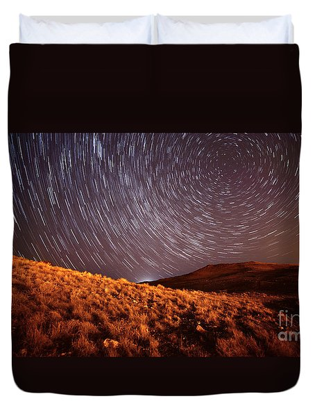 Duvet Cover featuring the photograph West Side Volcano by Brian Spencer