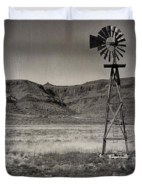 West Texas Ranch Scene Duvet Cover