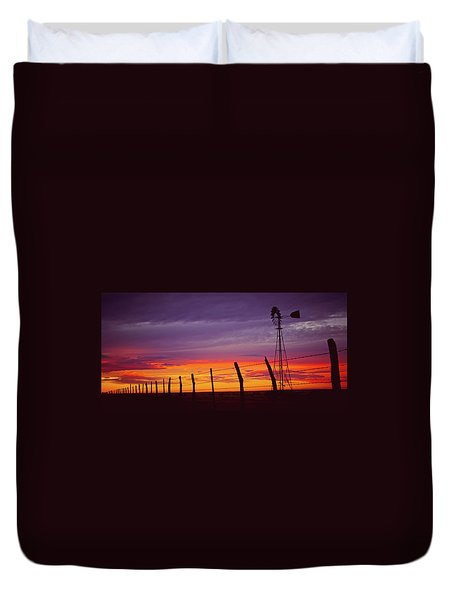 West Texas Sunset Duvet Cover