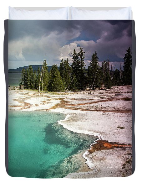 West Thumb Geyser Pool Duvet Cover