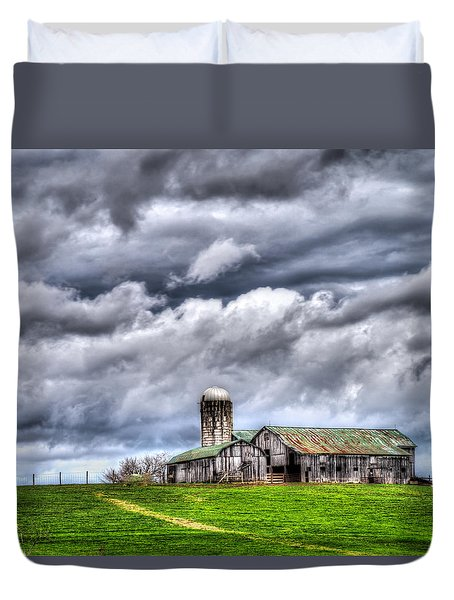 Duvet Cover featuring the photograph West Virginia Barn by Steve Zimic