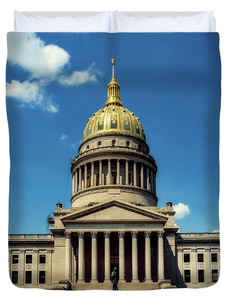 West Virginia Capitol - Charleston Duvet Cover by L O C