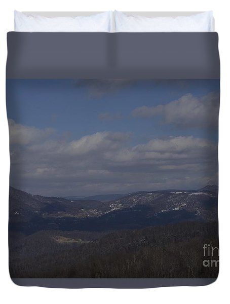 West Virginia Waiting Duvet Cover