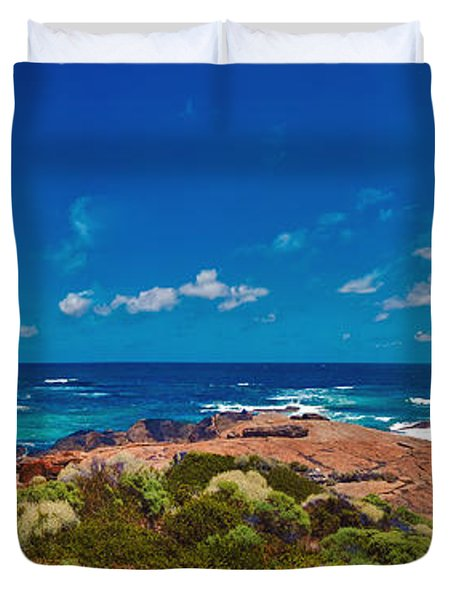 Duvet Cover featuring the photograph Western Australia Beach Panorama by David Zanzinger