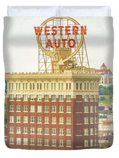 Western Auto Duvet Cover