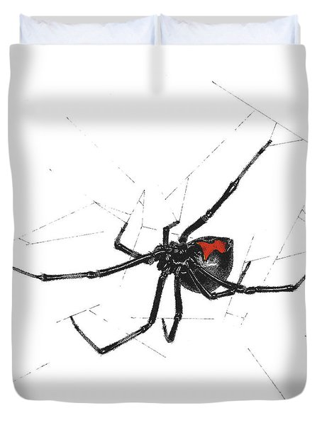 Western Black Widow - Color Duvet Cover