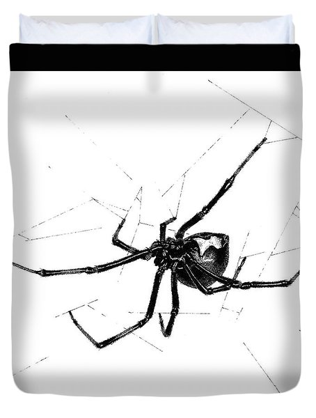 Western Black Widow Duvet Cover