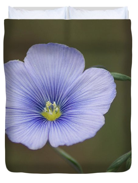 Duvet Cover featuring the photograph Western Blue Flax by Ben Upham III