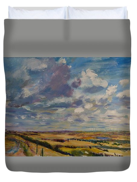 Skies Westward Duvet Cover
