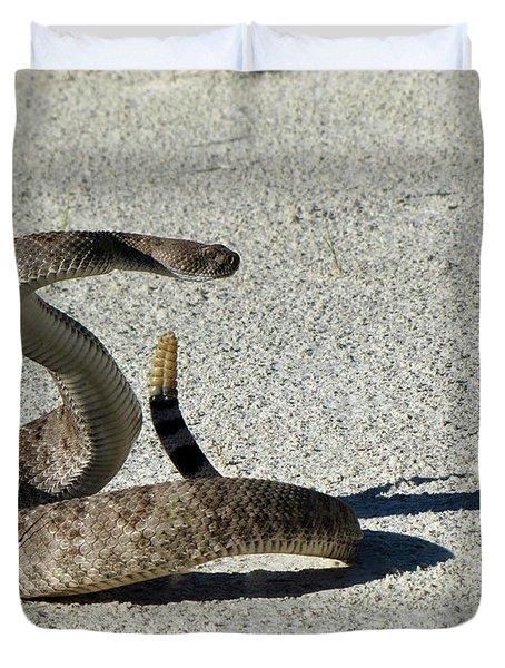Western Diamondback Rattlesnake Duvet Cover by Skeeze