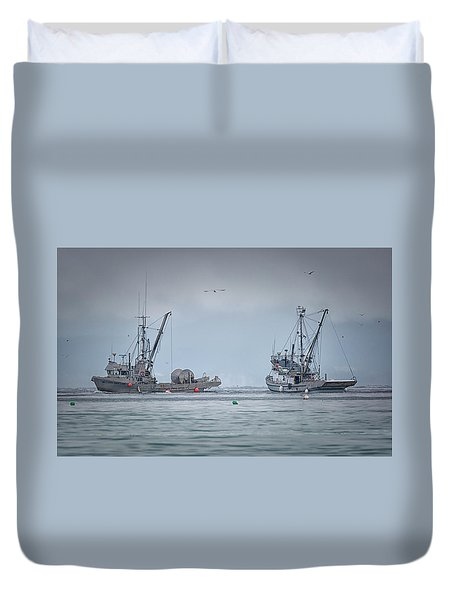 Western Gambler And Marinet Duvet Cover by Randy Hall