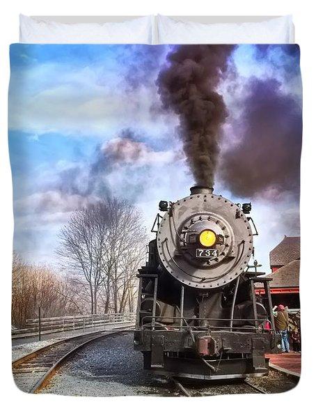 Western Maryland Steam Engine Duvet Cover